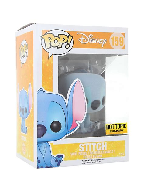 Funko Pop Vinyl Figure Topic Exclusive funko disney lilo stitch pop flocked stitch vinyl figure topic exclusive topic