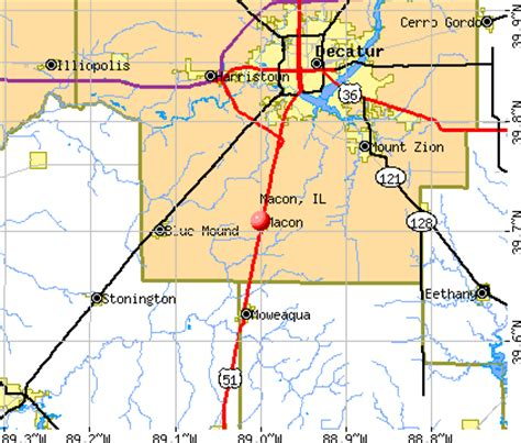 Macon County Search Il Macon Illinois Il 62544 Profile Population Maps Real