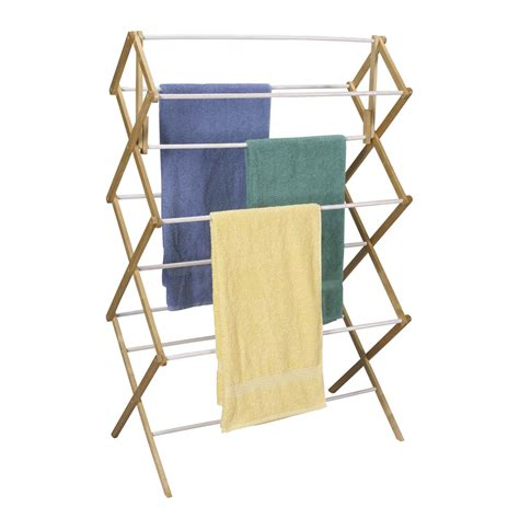 Clothes Dryer Shelf by Household Essentials Indoor Clothes Dryer Accordion Mega Drying Rack In Wood Vinyl