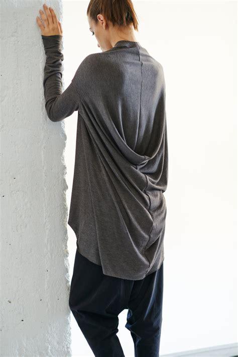 Drape Tops sleeves tunic top brown drape top drape dress