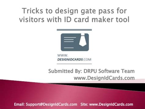 id card design tool tricks to design gate pass for visitors with id card maker