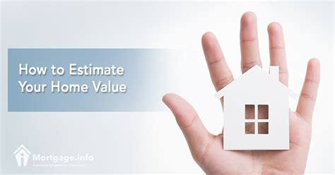 how to estimate your home value mortgage info
