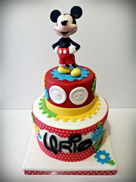 mickey mouse cake decorations ideas   pinterest mickey mouse st birthday