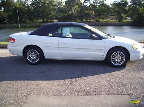 2004 chrysler convertible 2004 white chrysler sebring lxi convertible