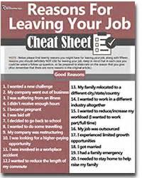 reason of leaving a job