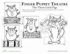 the three pigs puppet templates three pigs on three pigs
