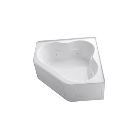 kohler corner bathtub kohler tercet 5 ft acrylic center drain neo angle
