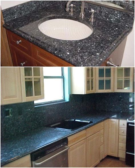 Blue Pearl Granite Backsplash by Blue Pearl Granite Backsplash