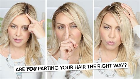 how to put hair in on the dide with 27 pieceyoutube are you parting your hair the right way youtube