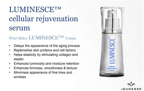 Serum Luminesce jeunesse luminesce cellular rejuvenation serum anti ageing