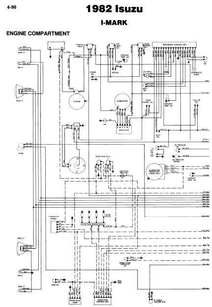 Isuzu I-Mark 1982 Wiring Diagrams | Online Guide and Manuals
