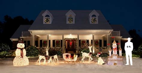 home accents holiday 5 ft pre lit white reindeer with sleigh ty311 310 1411 the home depot