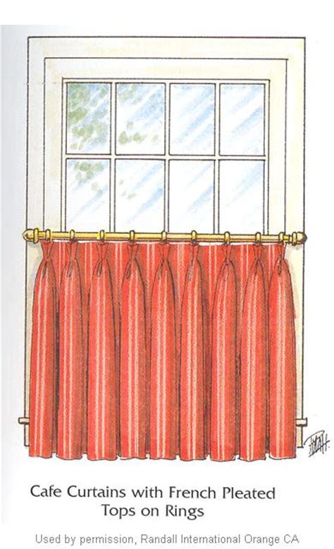 Cafe curtains french pleated interior mall