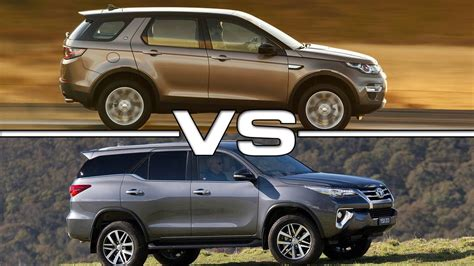 Toyota Rover 2016 Toyota Fortuner Vs 2016 Range Rover Discovery Sport