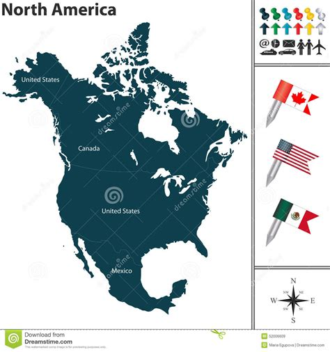 america map vector image map of america stock vector image 52006609