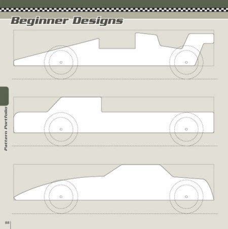 beginner designs patterns pinewood derby designs