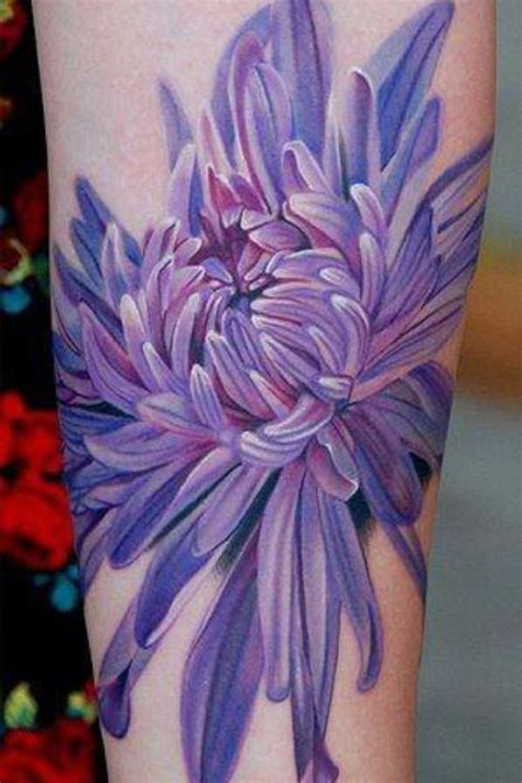 lavendar tattoo november birth flower chrysanthemum tattoos