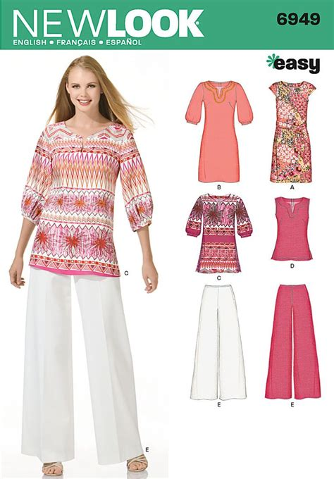 sewing pattern ladies top simplicity naaimode nr 9 womens dress tunic or top