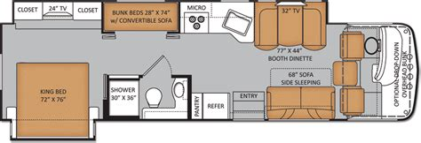 bunk bed rv floor plans class c rv floor plans with bunk beds gurus floor