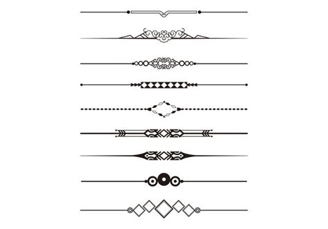 decorative line divider photoshop decorative divider vector pack download free vector art