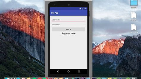php mobile android studio tutorial new login register 1 ui