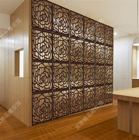 decorative partitions chinese hanging floding screen divider wood carved