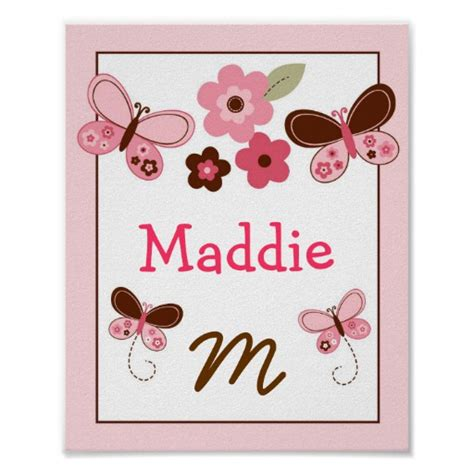Name Wall Decor For Nursery Maddie Posters Maddie Prints Prints Poster Designs