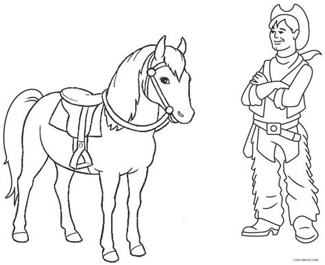 cowboy coloring pages printable cowboy coloring pages for cool2bkids