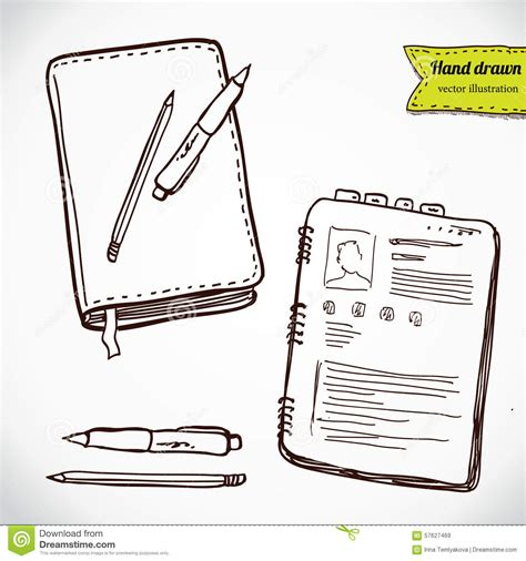 libro sketch your world drawing books with pen and pencil hand drawing sketch vector illustration stock vector illustration