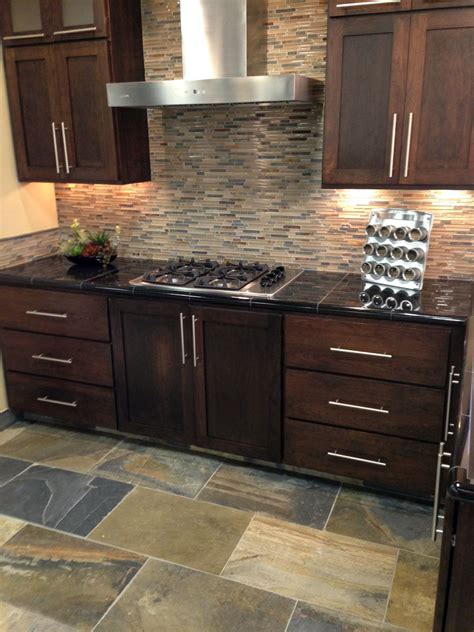 kitchen ideas mosaic stone backsplash tile fireplace glass