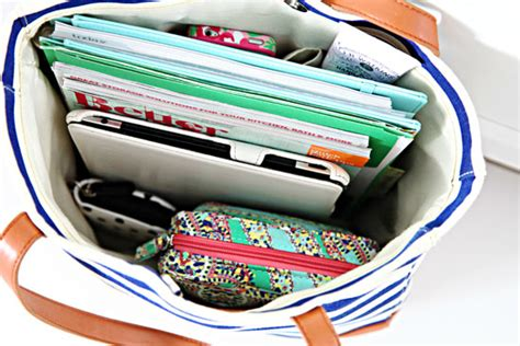 9 Steps To Organize Your Bag by Link Up Vol 9 Mini Traveling Office
