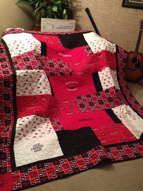 arkansas razorback quilt custom order