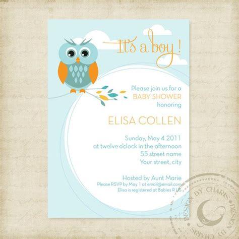 Baby Shower Invitation Template Owl Theme Boy Or Girl Baby Boy Baby Shower Invitations Templates Free