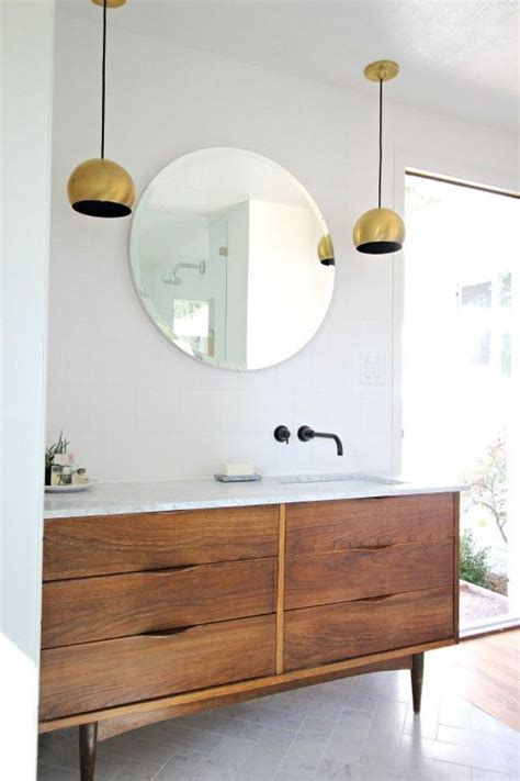 mid century modern bathroom vanity 35 trendy mid century modern bathrooms to get inspired