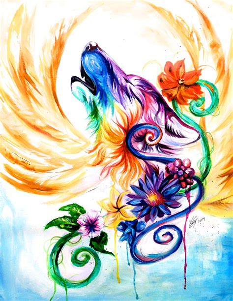 tattoo my rebellion pinterest rainbow tattoos regal rainbow wolf commission r a i n b o w s