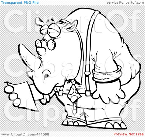 chagne cartoon cartoon rhino outline