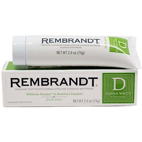 rembrandt deeply white peroxide whitening toothpaste