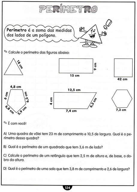 figuras geometricas quarto ano atividades com medidas de comprimento matem 225 tica 4 ano