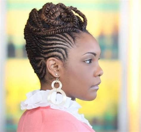 Braid Updo Hairstyles For Black Hair by Best Black Braided Updo Hairstyles American