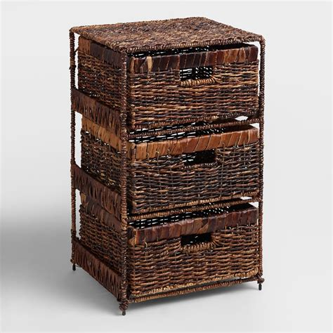 bathroom storage tower with drawers madras 3 drawer tower world market