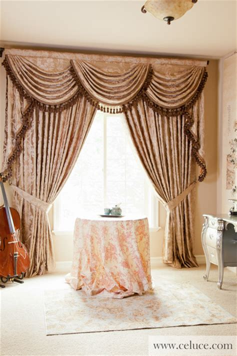 traditional style window treatments traditional baroque floral swag valance window treatment traditional