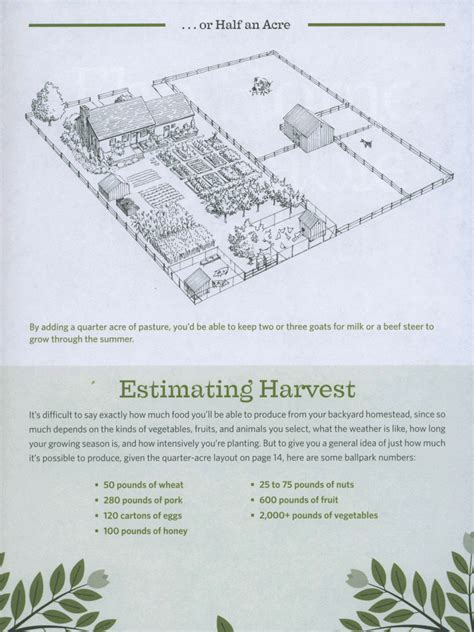 homestead layout plans on 1 acre or less half acre homestead plan