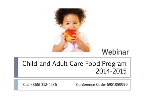 cacfp forms child and adult care food program cacfp cacfp training 2014 2015 webinar