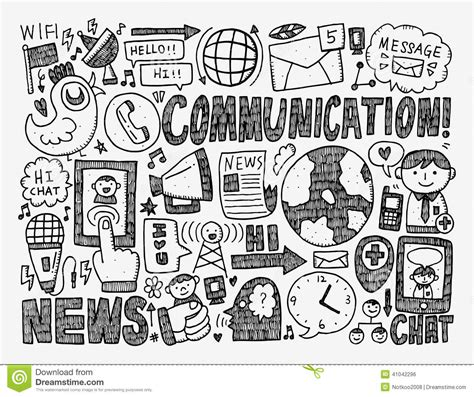 is doodle free to use doodle communication background stock vector image 41042296