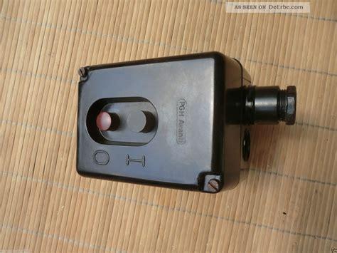 Historische Schalter Steckdosen by Alter Schalter Hauptschalter Druckknopf Bakelit 10 A 380 V