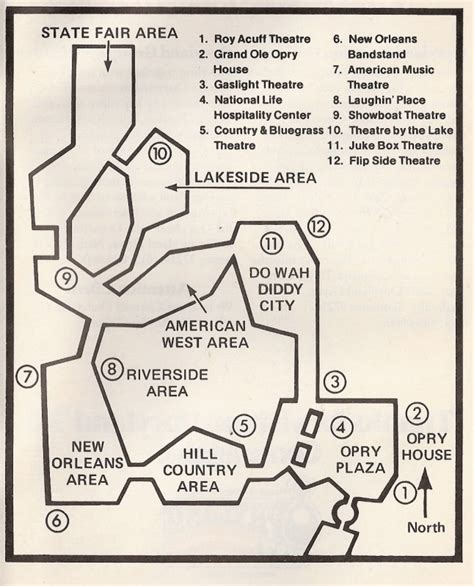 opryland hotel layout map opryland u s a theme park review