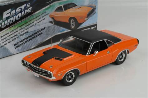 fast and furious greenlight dardens 1970 dodge challenger r t orange fast furious 1