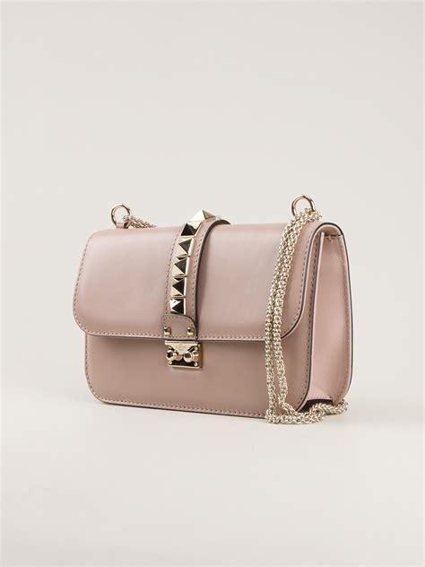 Bag Valentino Selempang Stud 2962 valentino rock stud shoulder bag in pink pink purple lyst