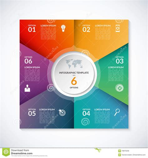 Square Pie In The Eco Circle by Vector Infographic Square Template With 2 Options
