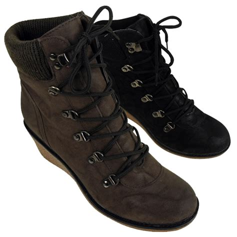 womens wedge trainer boot hi top trainers wedges